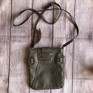 Guess Crossbody Purse Bag Grey Used